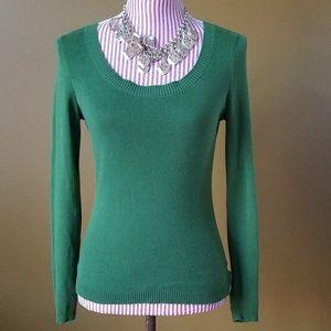 [LOFT] Hunter Green Fitted Sweater